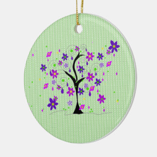 Whimsical Tree Ceramic Ornament