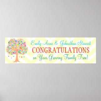 Whimsical Tree - Custom Baby Shower Banner Poster