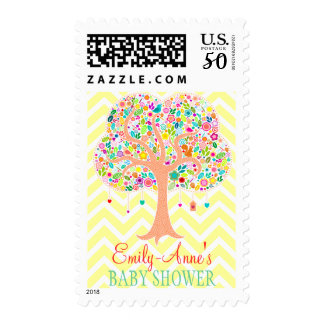 Whimsical Tree - Custom Postage Stamps