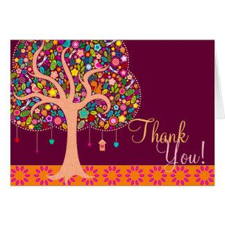 Whimsical Tree - Custom Thank You Card