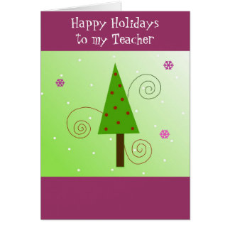 Whimsical Tree for my Teacher Card