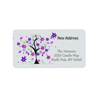 Whimsical Tree New Address Label