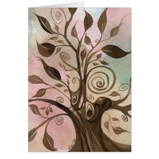 Whimsical Tree Notecard