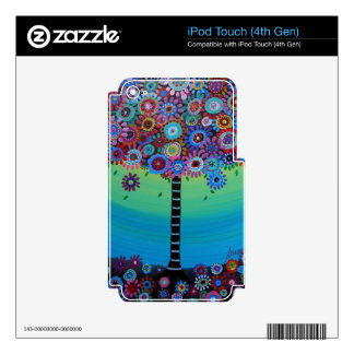 WHIMSICAL TREE OF LIFE BY PRISARTS iPod TOUCH 4G SKIN