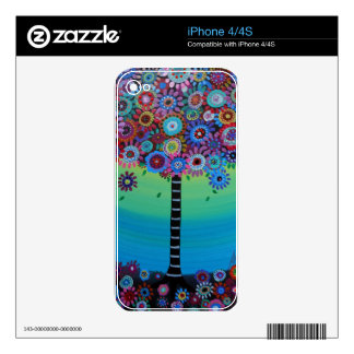 WHIMSICAL TREE OF LIFE BY PRISARTS SKIN FOR THE iPhone 4S