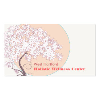 Whimsical Tree of Life Natural and Health Business Card