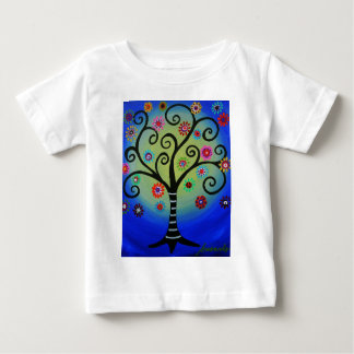 Whimsical Tree of Life Painting Baby T-Shirt