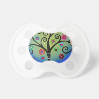 Whimsical Tree of Life Painting Pacifier