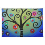 Whimsical Tree of Life Painting Place Mat