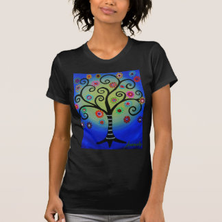 Whimsical Tree of Life Painting T-Shirt