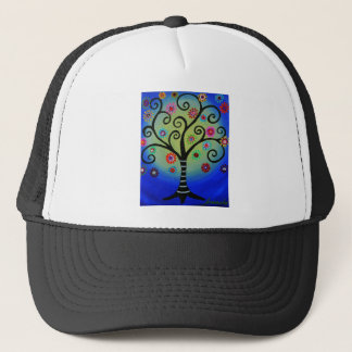 Whimsical Tree of Life Painting Trucker Hat