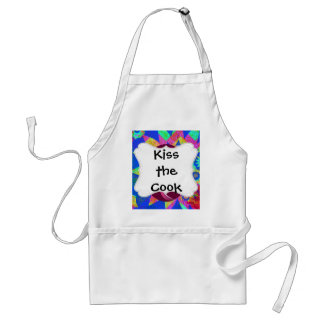 Whimsical Tree of Life Roses Colorful Abstract Adult Apron