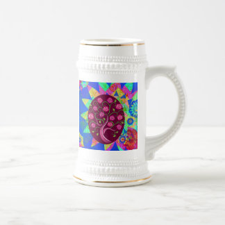 Whimsical Tree of Life Roses Colorful Abstract Coffee Mugs