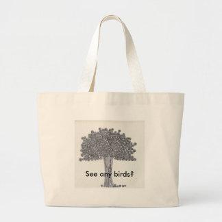 Whimsical Tree -  See any birds? Jumbo Tote Bag