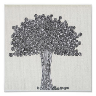 Whimsical Tree - See any birds? Print
