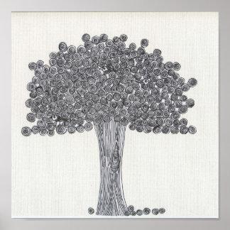 Whimsical Tree - See any birds? Print