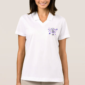 Whimsical Tree with Flowers Polo Shirt