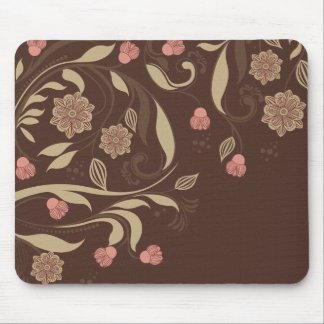 Whimsical trees and flowers mouse pad