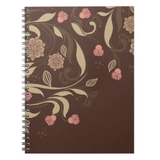 Whimsical trees and flowers notebook