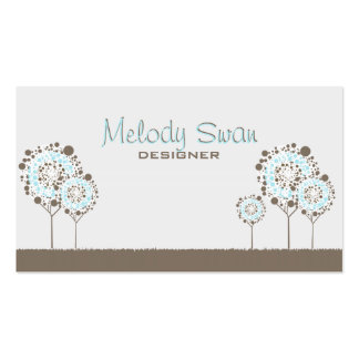 Whimsical Trees Designer Business Business Card