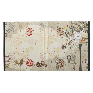 Whimsical trees, flowers + birds iPad cover case iPad Case