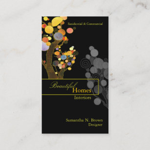 Whimsical business cards templates zazzle whimsical trees interior design business cards colourmoves