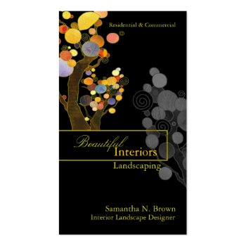 Whimsical Trees Interior Design Business Cards