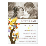 Whimsical Trees: Photo Wedding Save the Date 5x7 Paper Invitation Card