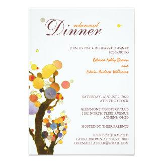 Whimsical Trees Wedding Rehearsal Dinner Card