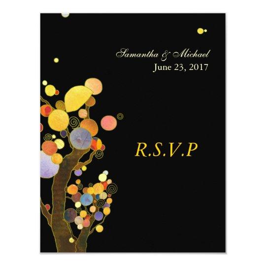 Whimsical Trees Wedding Response Card