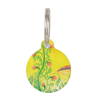 Whimsical Tulips Pet ID Tag