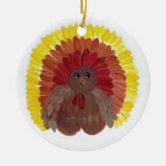 Whimsical Turkey Ceramic Ornament