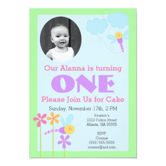 Whimsical Turning One Birthday Party Invitation