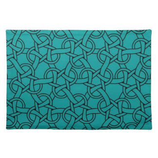 Whimsical Turquoise Celtic Pattern Placemat