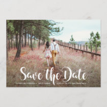 Whimsical Typography and Photo | Save the Date