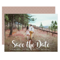 Whimsical Typography and Photo | Save the Date Card