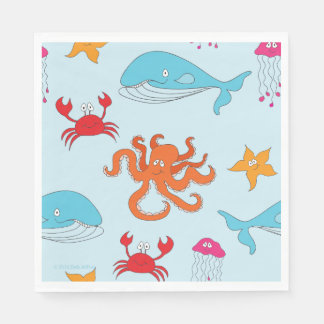 Whimsical Under the Sea Luncheon Napkins