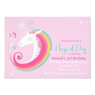 Whimsical Unicorn Birthday Party Invitation