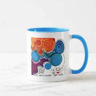 Whimsical, Uplifting Ceramic ART Coffee Mug