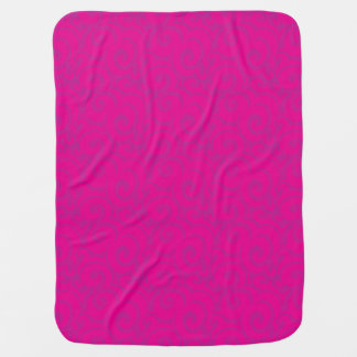 whimsical vibrant pattern stroller blanket