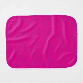 whimsical vibrant pattern baby burp cloths