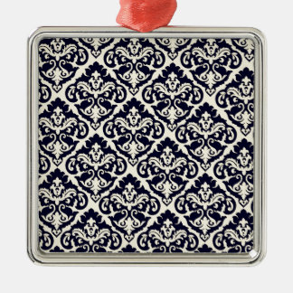 Whimsical Victorian Damask Metal Ornament
