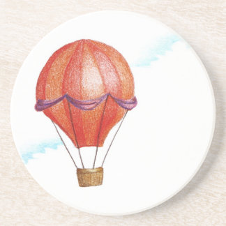 Whimsical Vintage Hot Air Balloon Coaster
