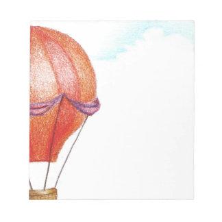 Whimsical Vintage Hot Air Balloon Notepad