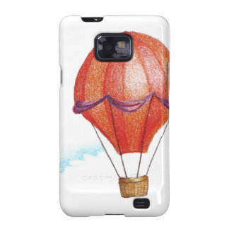 Whimsical Vintage Hot Air Balloon Samsung Galaxy S2 Case