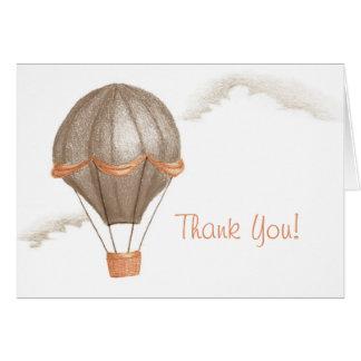 Whimsical Vintage Hot Air Balloon Thank You Card