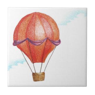Whimsical Vintage Hot Air Balloon Tile