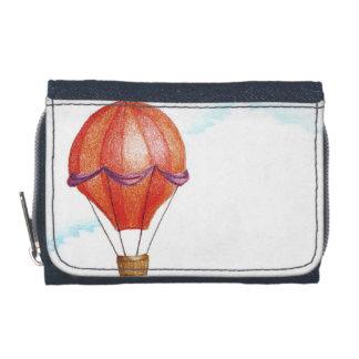 Whimsical Vintage Hot Air Balloon Wallet
