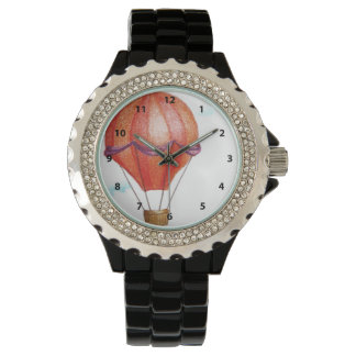 Whimsical Vintage Hot Air Balloon Watch
