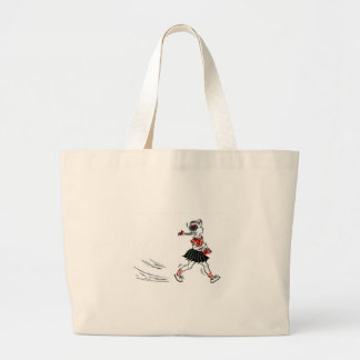 Whimsical Vintage Little Girl With Purse Tote Bag